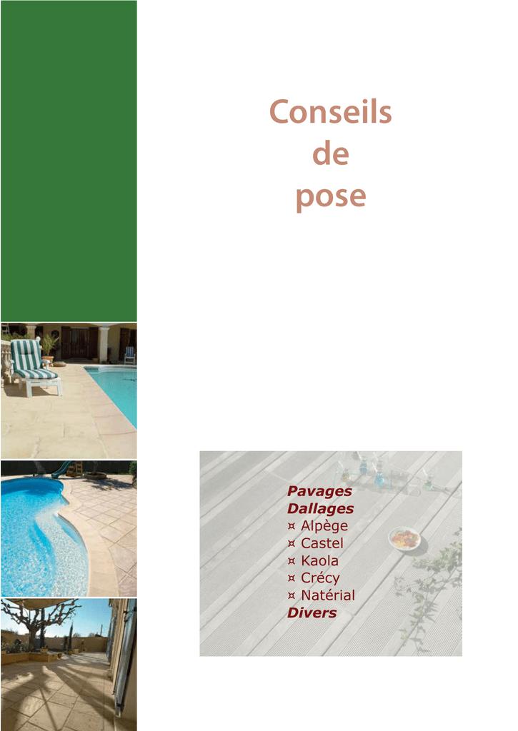 Conseils De Pose Pavages Manualzzcom