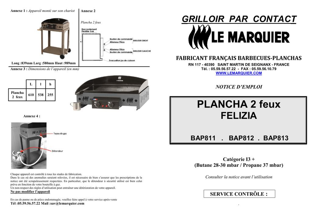 Plancha 2 Feux Felizia Grilloir Par Contact Manualzzcom