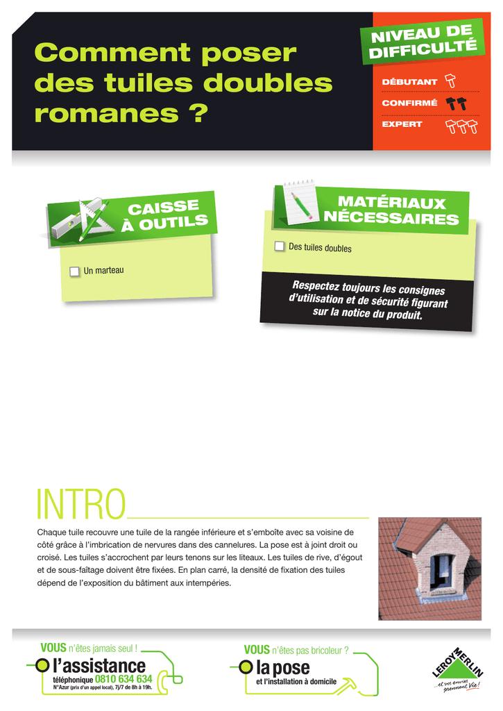 Intro Comment Poser Des Tuiles Doubles Romanes Manualzzcom