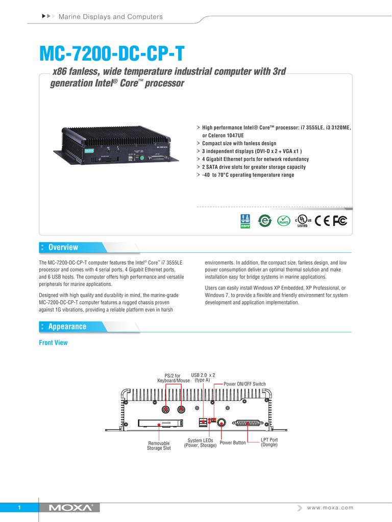 MC-7200-DC-CP-T › x86 fan less, wide temperature industrial