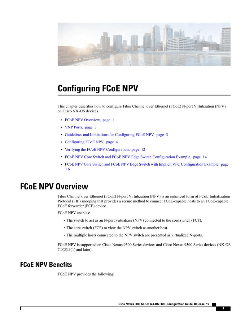 Configuring FCoE NPV | manualzz com