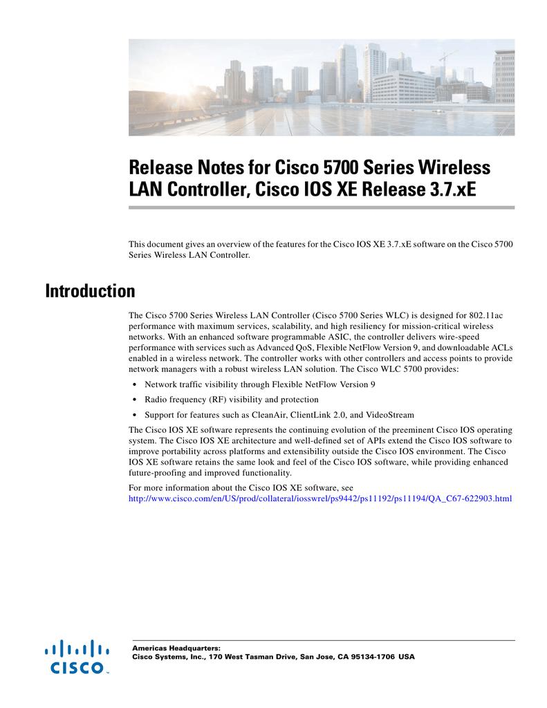Release Notes for Cisco 5700 Series Wireless | manualzz com