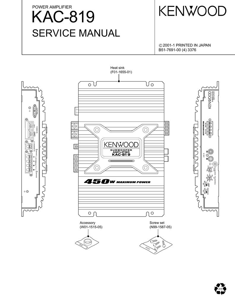 Kenwood Wiring Diagram On Kenwood Kac 819 Amplifier Wiring ... on