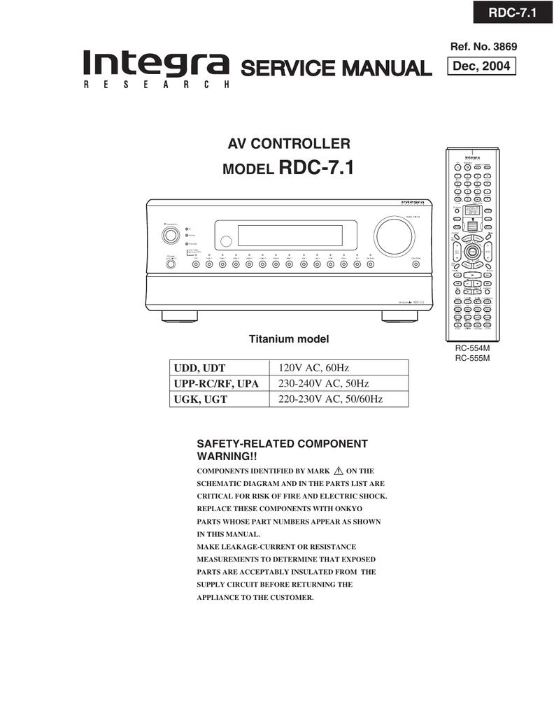 Service Manual Rdc 71 Av Controller Model Attractive Lighting Circuit Using 40 Led39s
