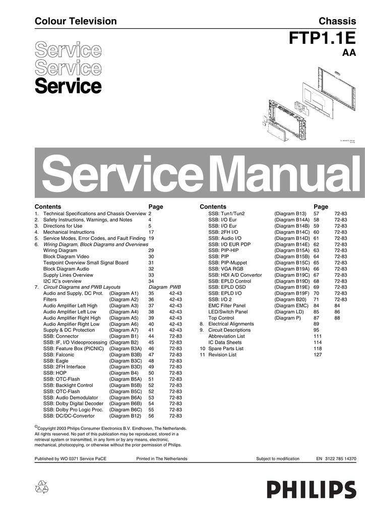 ftp1 1e colour television chassis aa manualzz com rh manualzz com