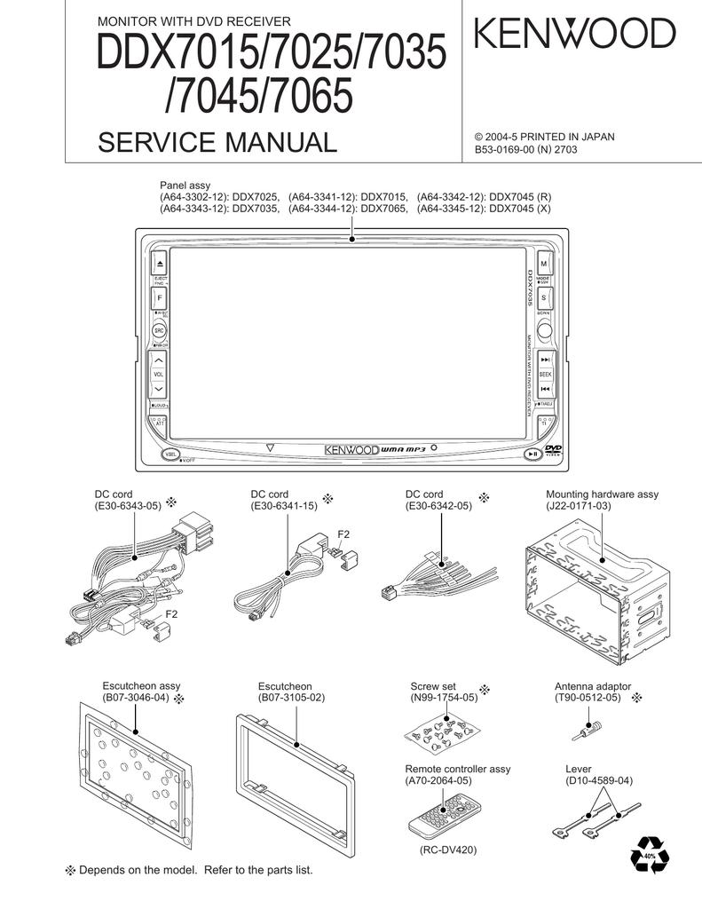 [DIAGRAM_38YU]  DDX7015/7025/7035 /7045/7065 SERVICE MANUAL MONITOR WITH DVD RECEIVER |  Manualzz | Ddx7015 Wiring Diagram |  | manualzz