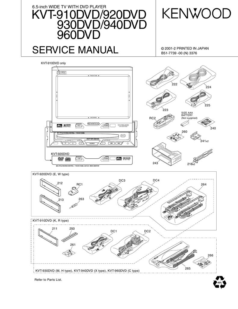 kvt 910dvd 920dvd 930dvd 940dvd 960dvd service manual Kenwood Wiring-Diagram Colors kenwood kvt 910dvd wiring diagram