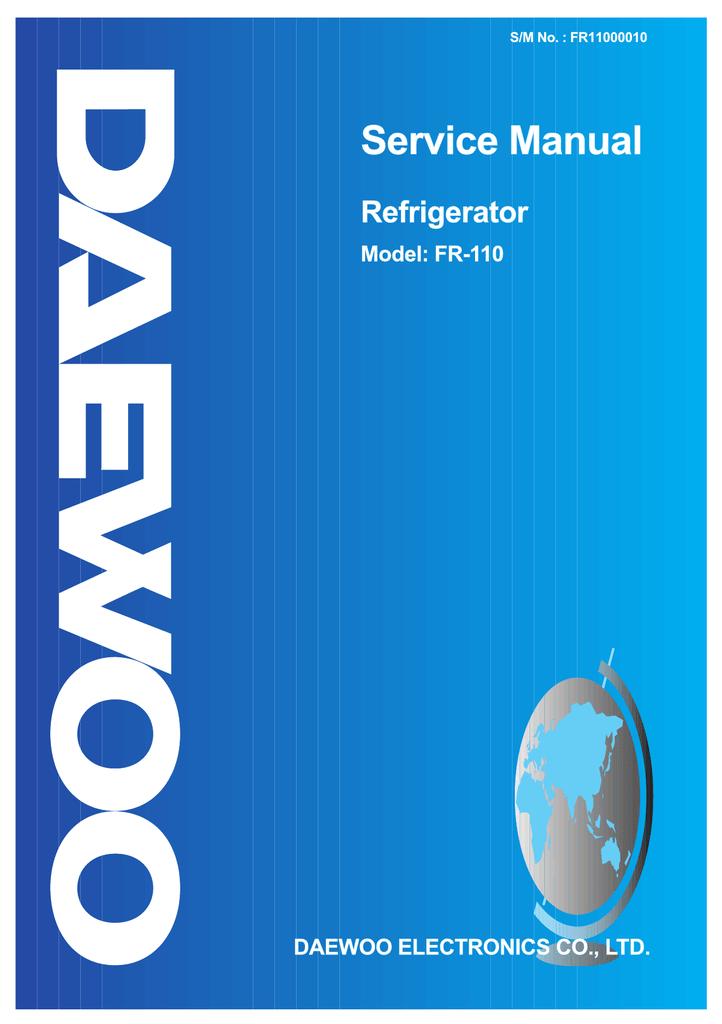 Service Manual Refrigerator Model  Fr