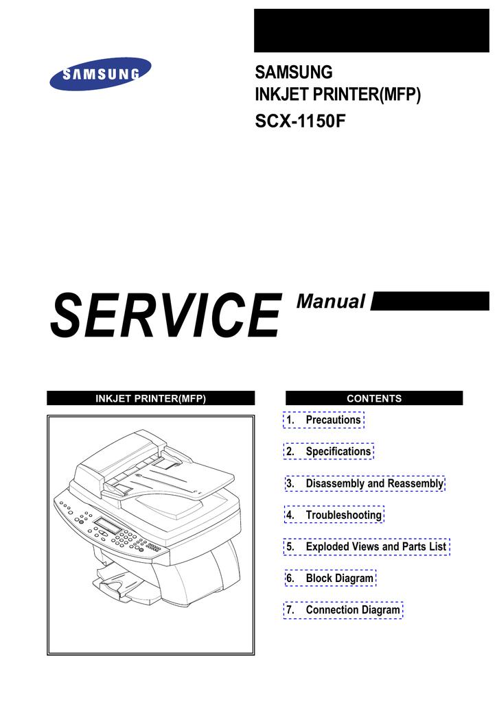 SERVICE Manual SAMSUNG INKJET PRINTER(MFP) | manualzz com