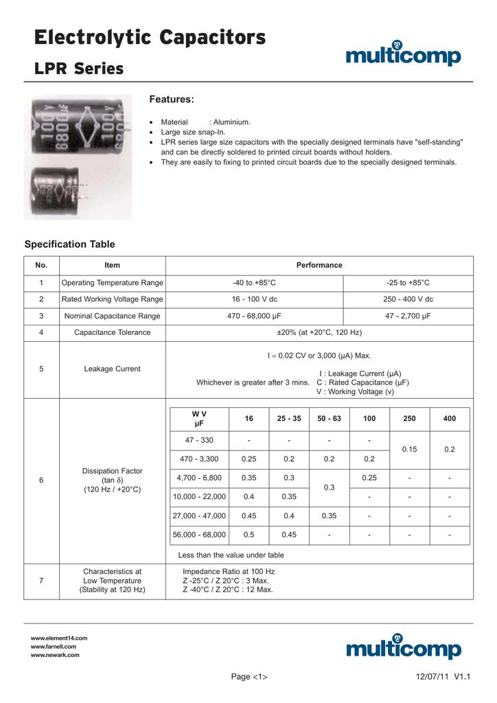 8200UF 100V Part # MCLPR100V828M35X60 CAPACITOR