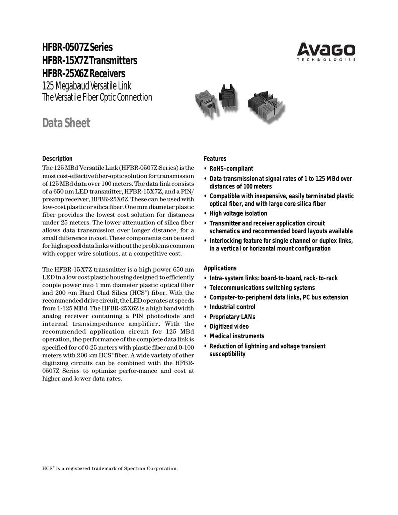 Receivers Transceivers SERCOS 16MBd SMA TX RoHS Fiber Optic Transmitters