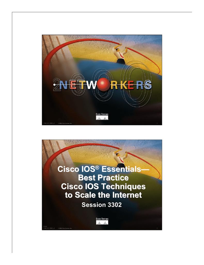 Cisco IOS Essentials— Best Practice Cisco IOS Techniques