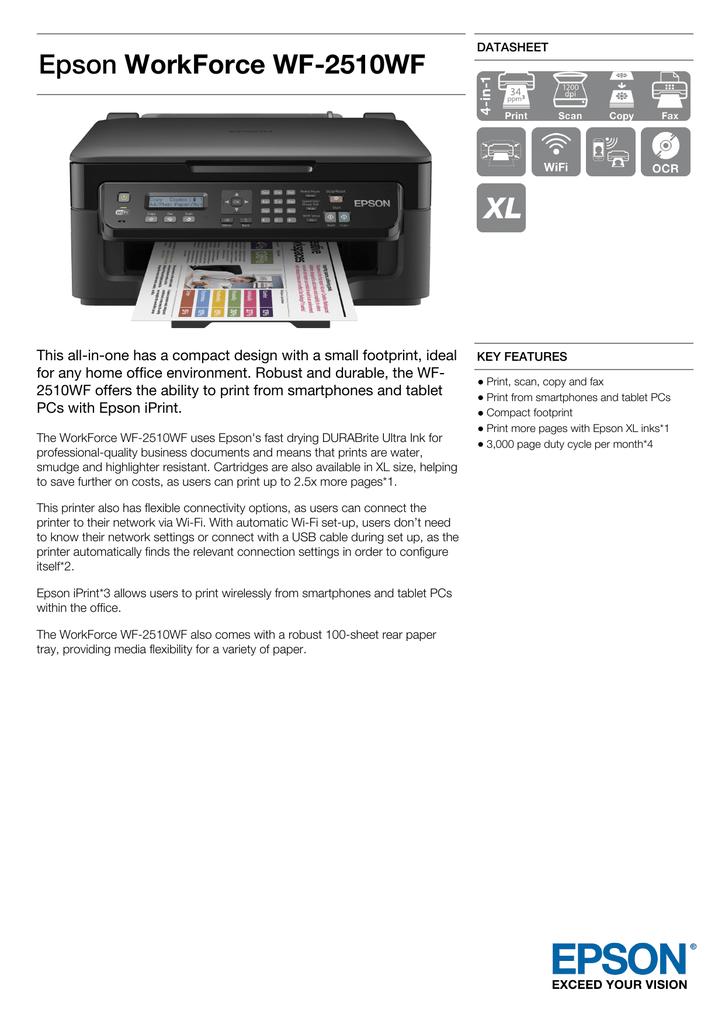 WorkForce WF-2510WF | manualzz com