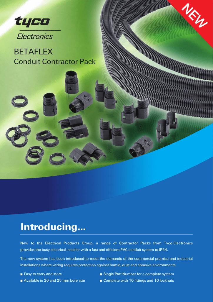 NEW Introducing    BETAFLEX Conduit Contractor Pack | manualzz com
