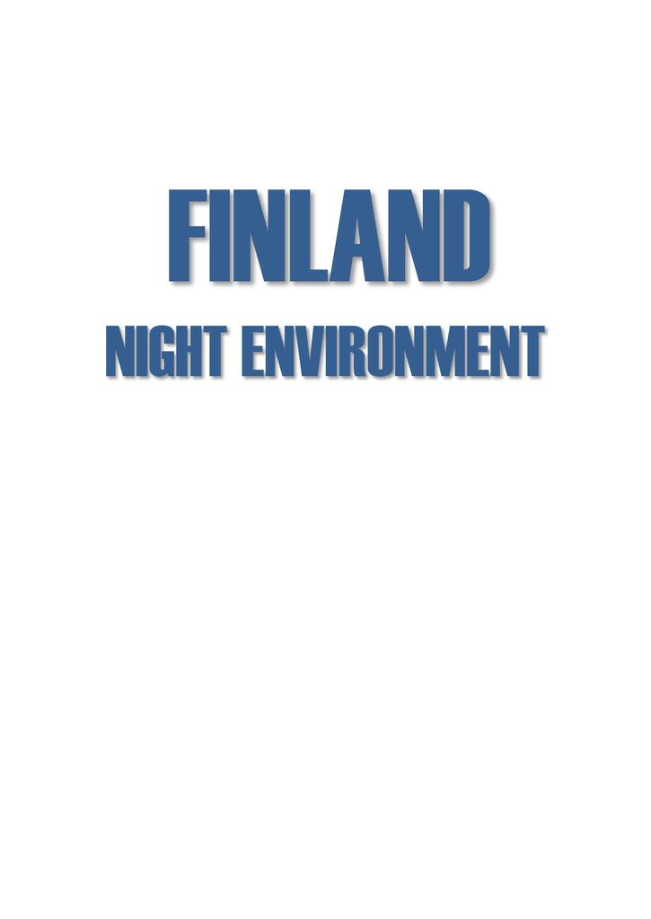 FINLAND NIGHT ENVIRONMENT | manualzz com