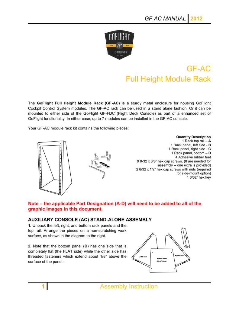 GF-AC Full Height Module Rack GF-AC MANUAL   manualzz com