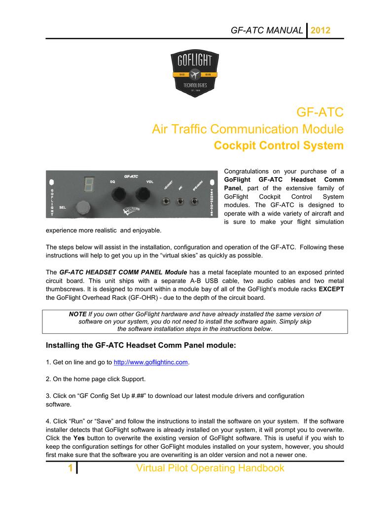 GF-ATC Air Traffic Communication Module Cockpit Control