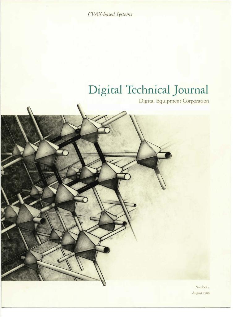 Digital Technical Journal CVAX-based Systems Digital