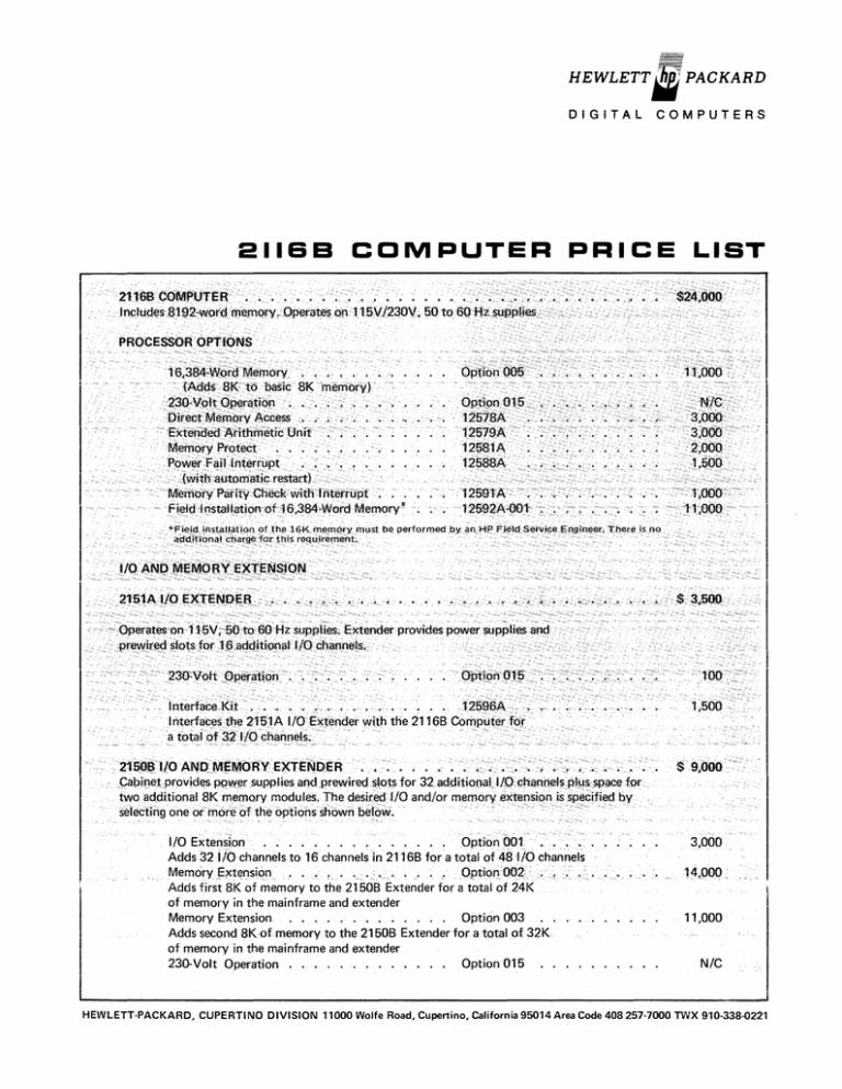 2116B_Price_List_Jun70.pdf | Manualzz