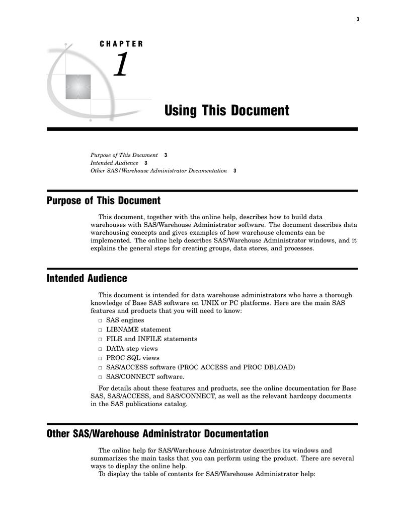 1 Using This Document Purpose of This Document | manualzz com