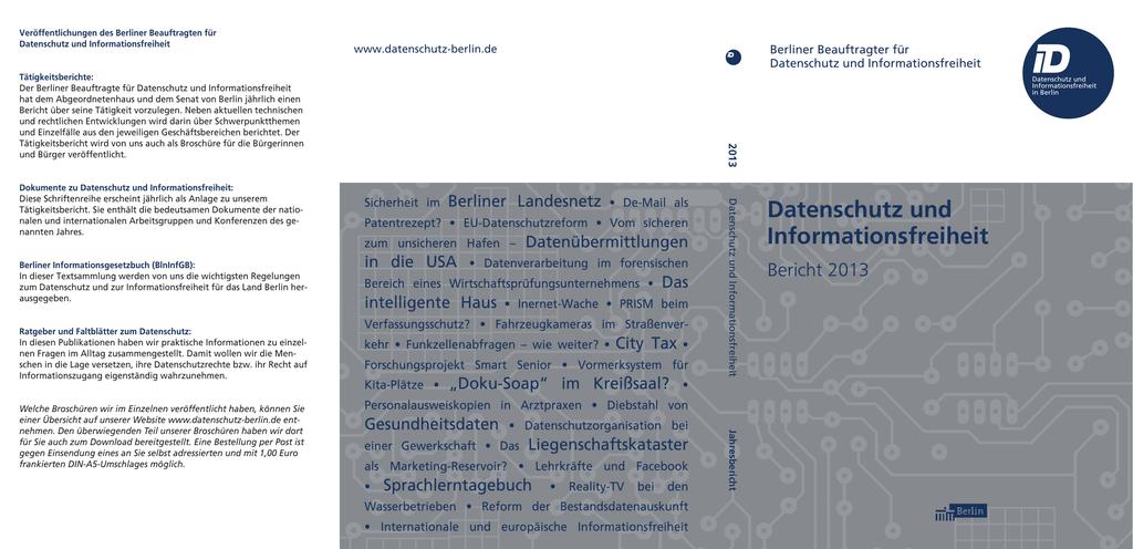 Berliner Beauftragter Für Datenschutz Und Informationsfreiheit