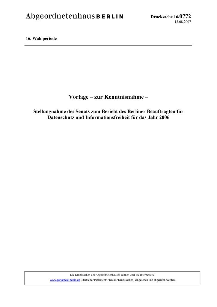 0772 Vorlage – zur Kenntnisnahme –   manualzz.com