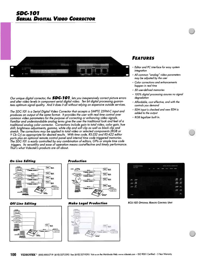 videotek_sdc-101.pdf | Manualzz