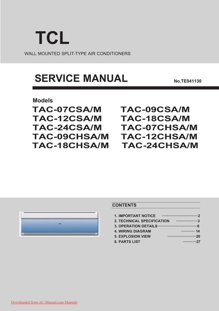 tcl service manual  manualzz