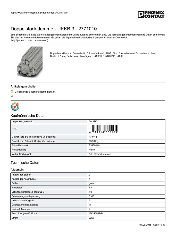 Distanzplatte grau 5 x Phönix Contact DP-UKK 3 -MSTB-5,08 NEU
