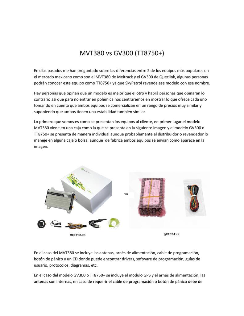 MVT380 vs GV300 (TT8750+) | manualzz com