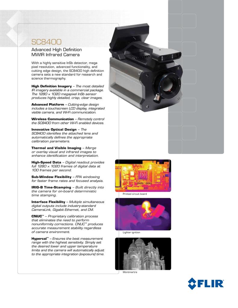 SC8400 Advanced High Definition MWIR Infrared Camera | manualzz.com