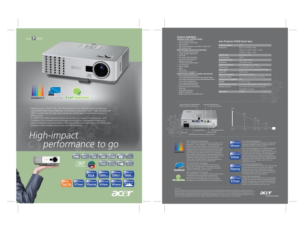 Acer_P3250.pdf | Manualzz