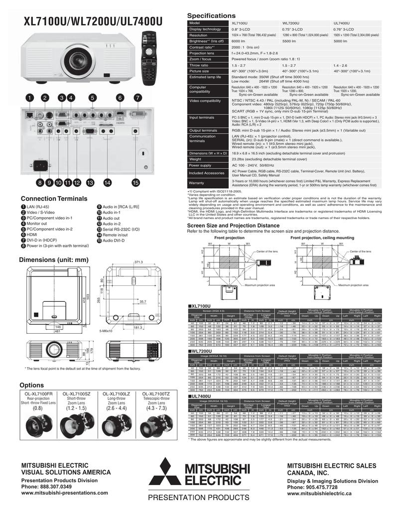 Mitsubishi-XL7100U-WL7200U-UL7400U.pdf | Manualzz