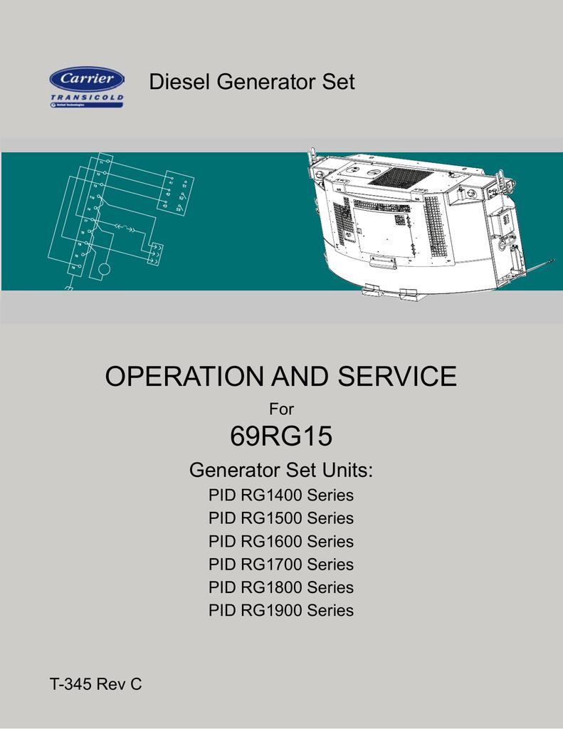 Operation And Service 69rg15 Diesel Generator Set