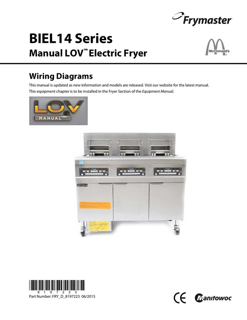 Frymaster Wiring Diagram Simple Biel14 Series Manual Lov Electric Fryer Diagrams Manualzz Com Yamaha