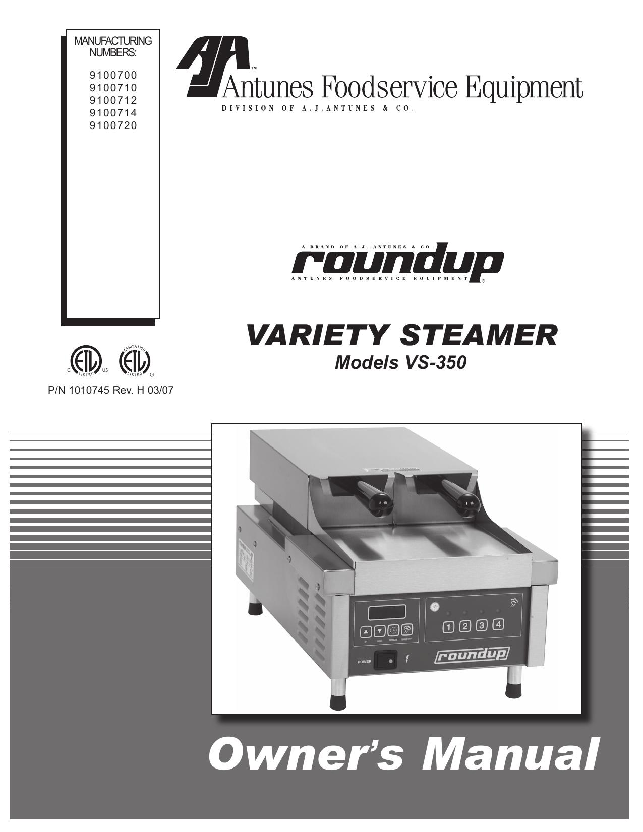 Owner s manual Variety Steamer ' | manualzz.com on