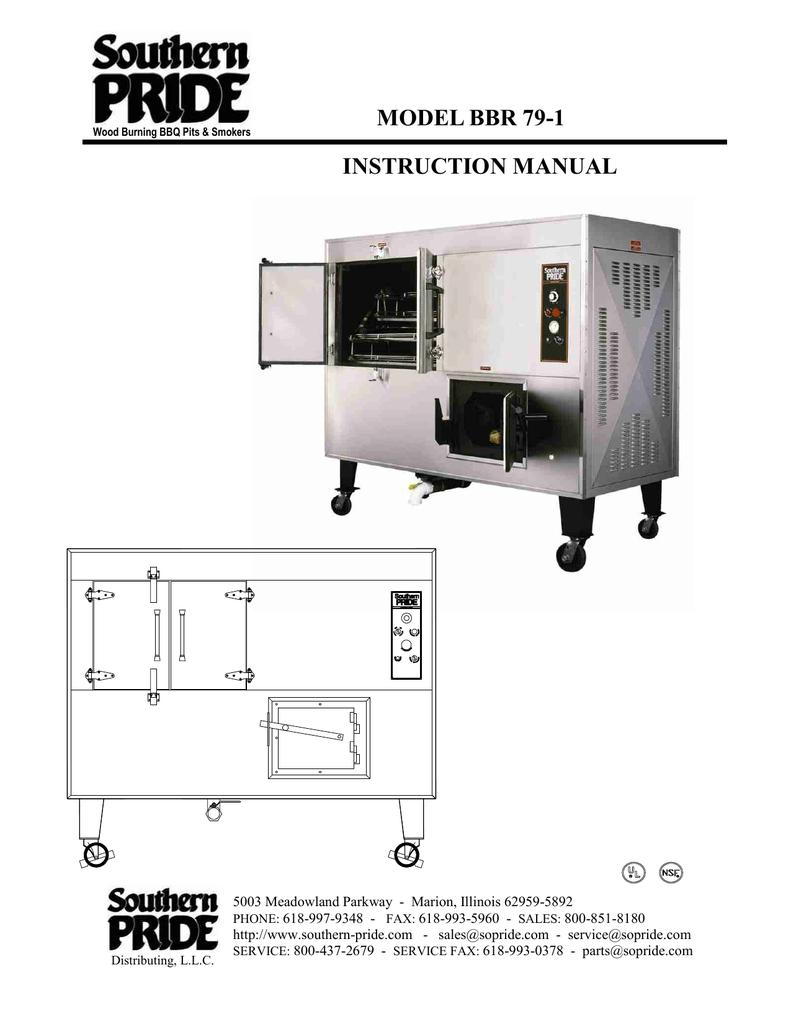 model bbr instruction manual