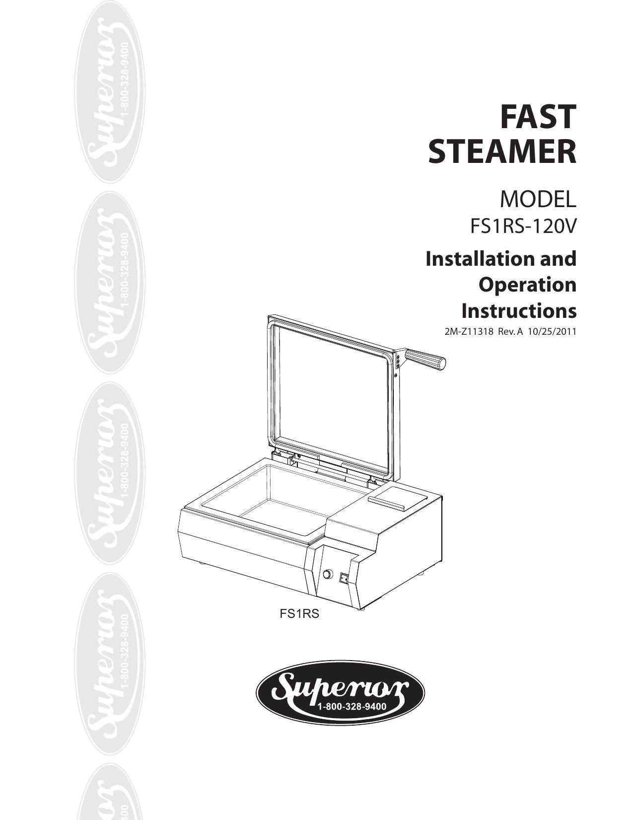 FAST STEAMER MODEL FS1RS-120V | manualzz.com on