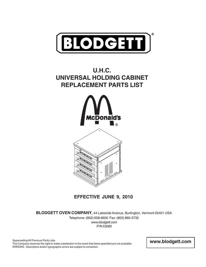 Uhc Back Membrane BLODGETT 31964 Control