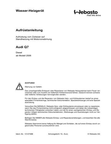Q7_2006_Telestart_Instal_D.pdf | Manualzz