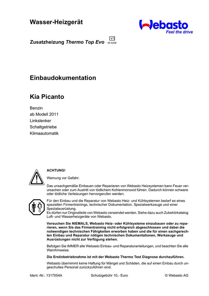 Großzügig Kia Picanto Schaltplan Bilder - Elektrische Schaltplan ...