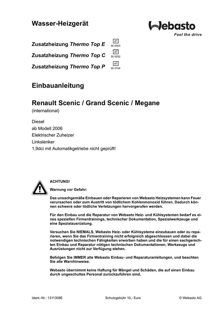 Renault Scenic Stromlaufplan
