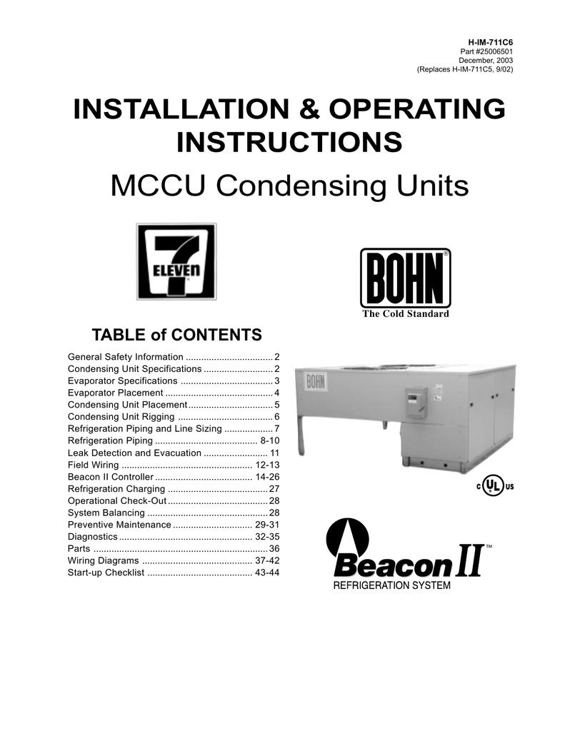 Wiring Diagrams Preventive Maintenance Heatcraft Refrigeration ...