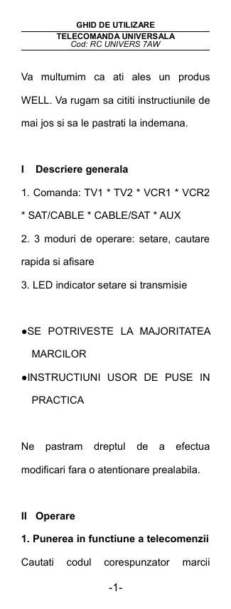 http://www.telecomenzi-shop.ro/articole/doc/1248775758.pdf | Manualzz