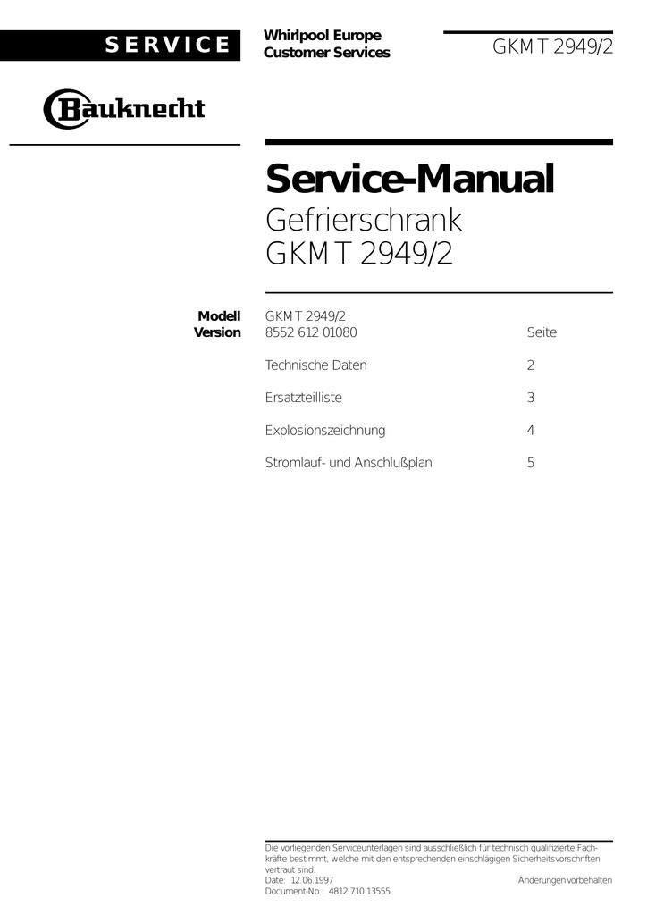 bauknecht gkmt29492 service dok.pdf   Manualzz