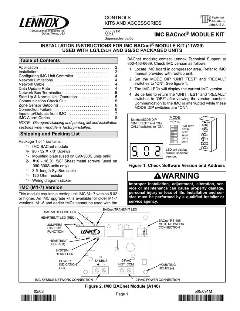 Imc Bacnet Module Kit Wiring Diagram