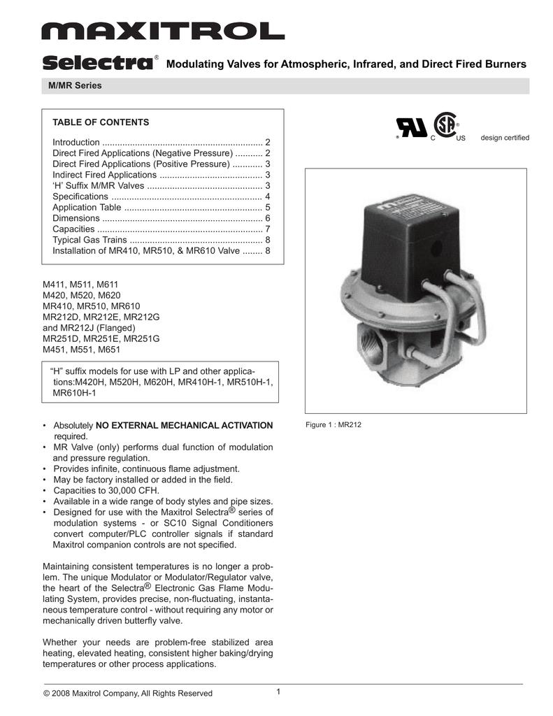 SC10C-B6S1 Maxitrol Company
