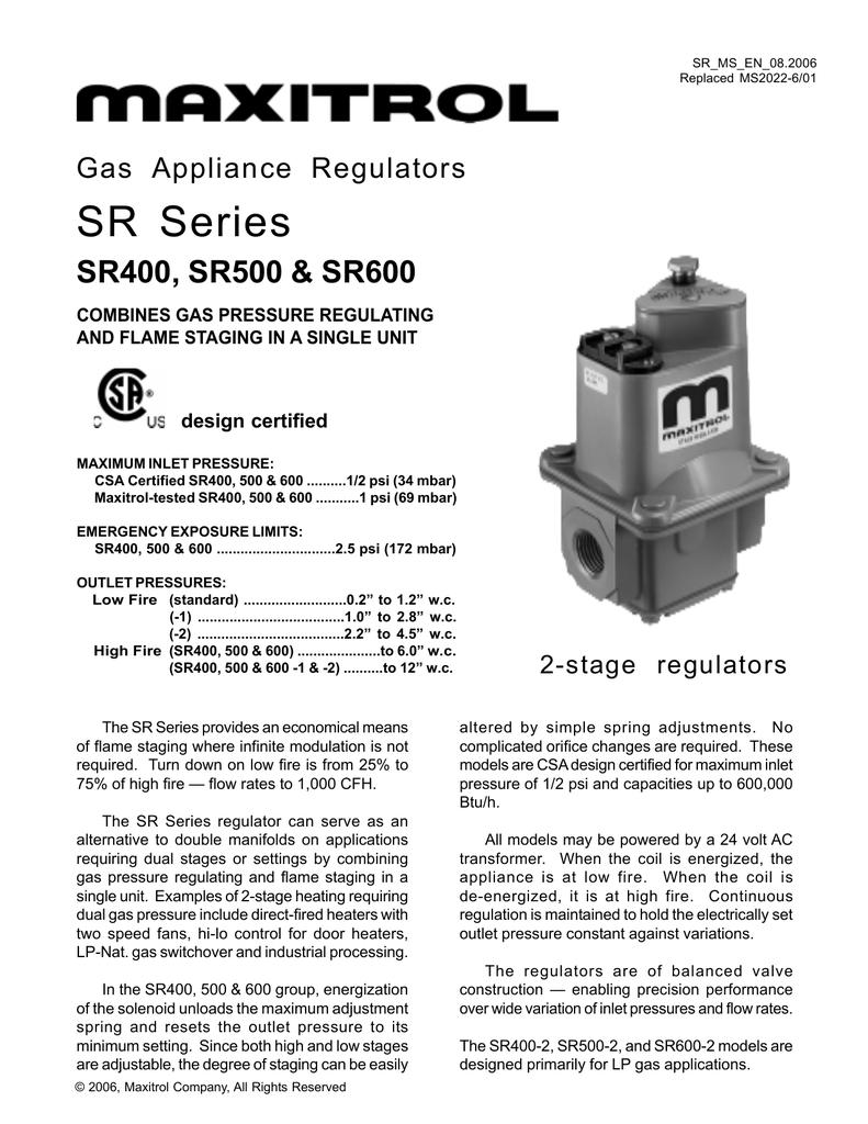SR Series SR400, SR500 &
