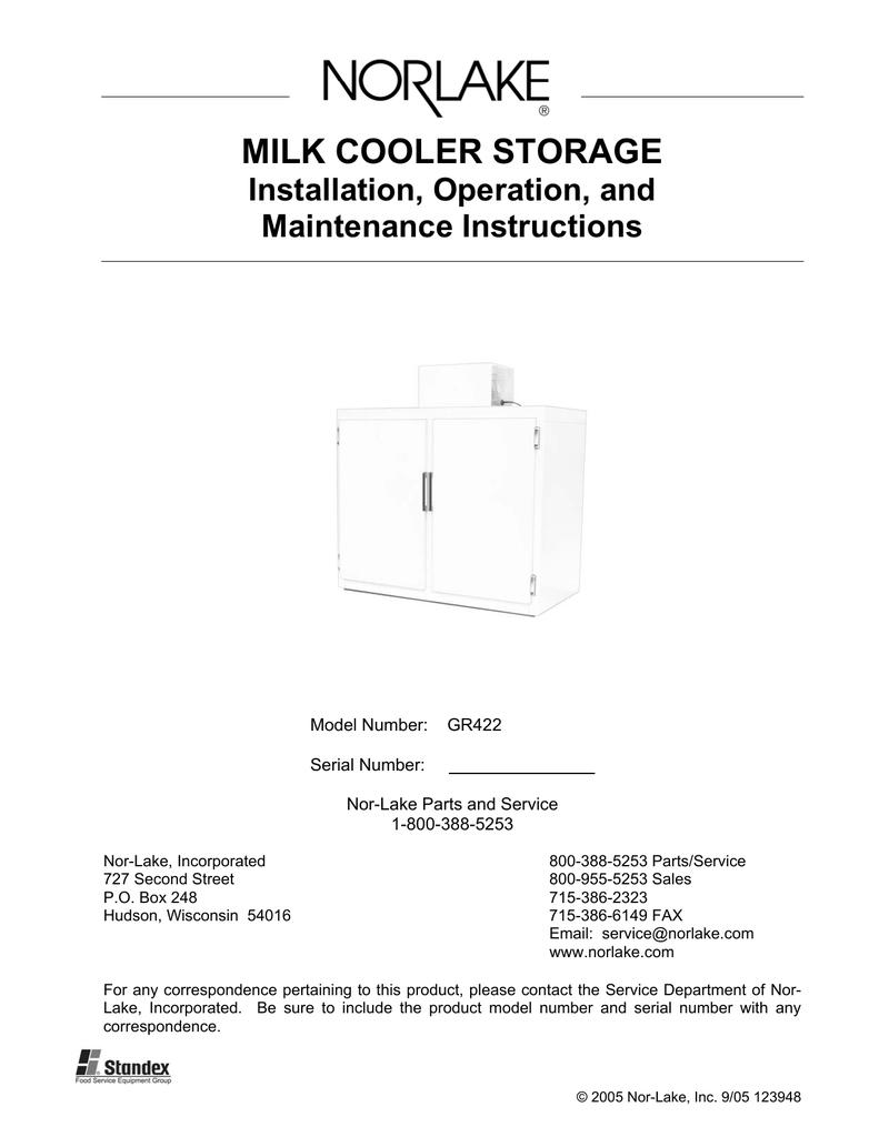 Wiring Diagram Nor Lake Milk Cooler Schematic Diagrams Norlake Storage Installation Operation And Maintenance