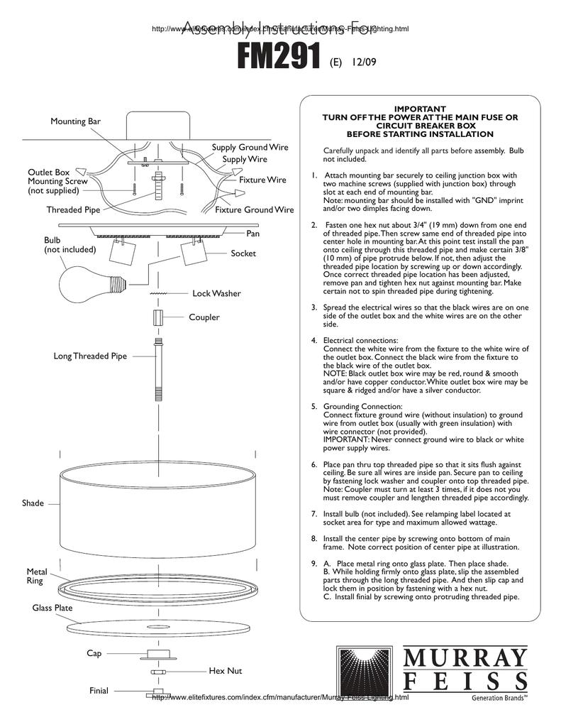 FM291 embly Instructions For (E) 12/09 Mounting Bar | manualzz.com on